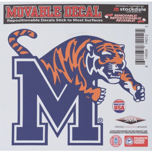 "Stockdale University of Memphis 6"" x 6"" Decal"