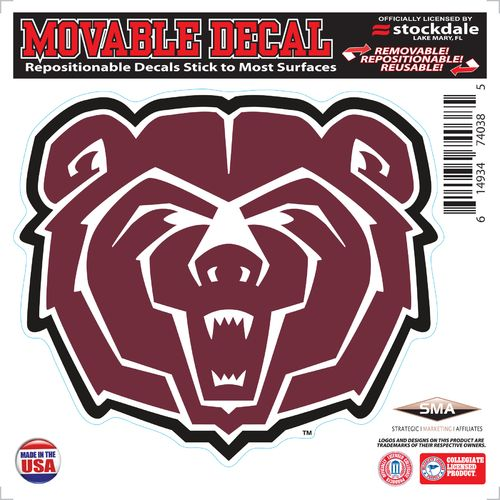 Stockdale Missouri State University 6' x 6' Decal