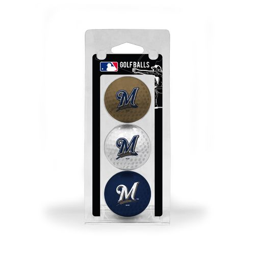 Team Golf Milwaukee Brewers Golf Balls 3-Pack