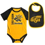 Colosseum Athletics Infants' Wichita State University Rookie Onesie and Bib Set