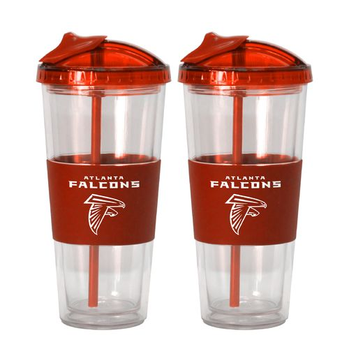 Boelter Brands Atlanta Falcons 22 oz. No-Spill Straw Tumblers 2-Pack