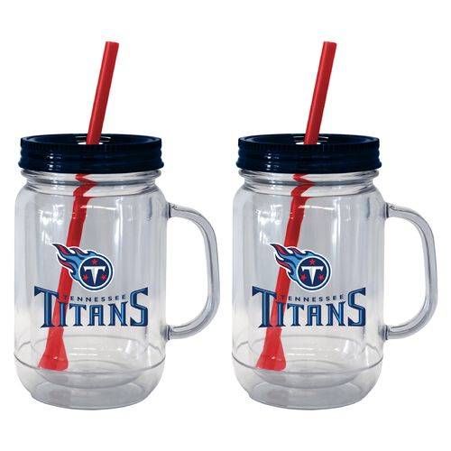Boelter Brands Tennessee Titans 20 oz. Handled Straw Tumblers 2-Pack