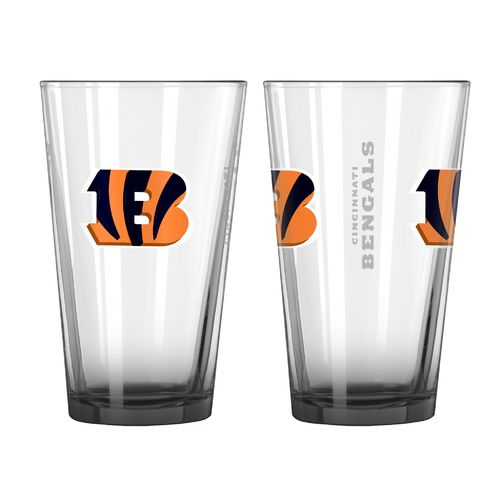 Boelter Brands Cincinnati Bengals Elite 16 oz. Pint Glasses 2-Pack
