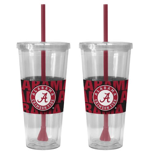 Boelter Brands University of Alabama Bold Neo Sleeve 22 oz. Straw Tumblers 2-Pack - view number 1