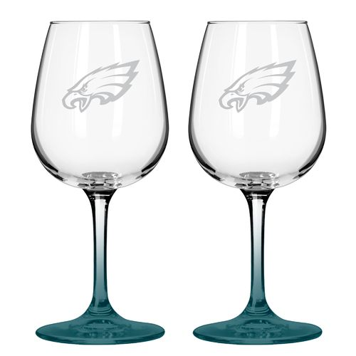 Boelter Brands Philadelphia Eagles 12 oz. Wine Glasses 2-Pack