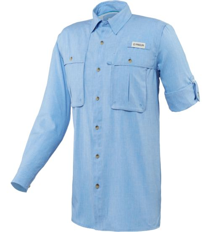 Magellan outdoors men 39 s aransas pass heather long sleeve for Fishing shirts academy