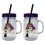 Boelter Brands East Carolina University 20 oz. Handled Straw Tumblers 2-Pack