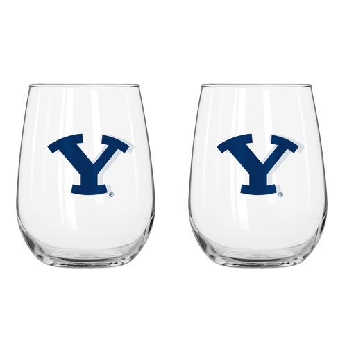 Boelter Brands Brigham Young University 16 oz. Curved Beverage Glasses 2-Pack