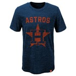 Majestic Boys' Houston Astros Hours and Hours Short Sleeve Slub T-shirt
