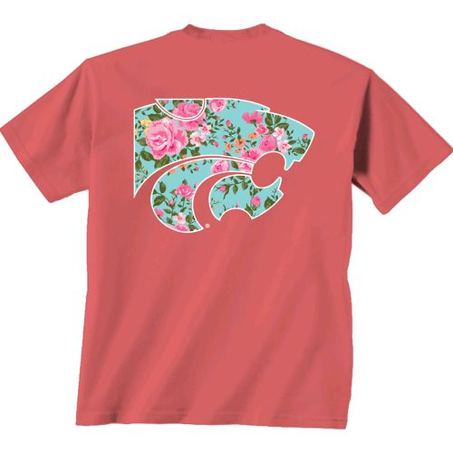 New World Graphics Women's Kansas State University Floral T-shirt