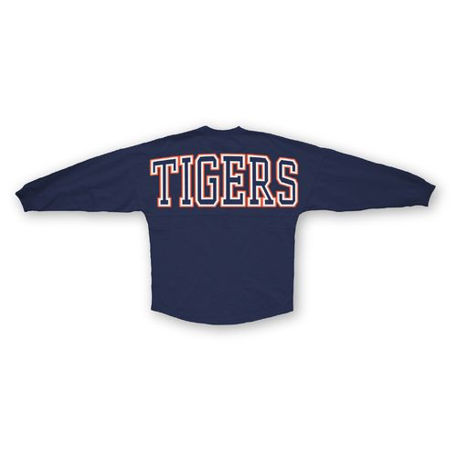 Three Squared Juniors' Auburn University Big Time Outline Sweeper T-shirt