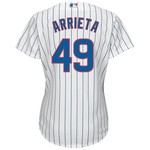 Majestic Women's Chicago Cubs Jake Arrieta #49 Cool Base Replica Home Jersey