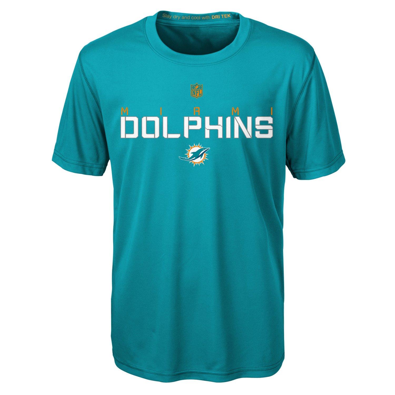 NFL Boys' Miami Dolphins Dri-Tek Maximal T-shirt