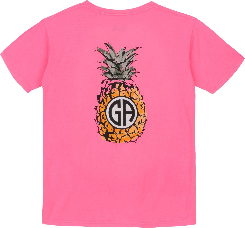 Royce Juniors' State Pride Georgia Pineapple Monogram T-shirt