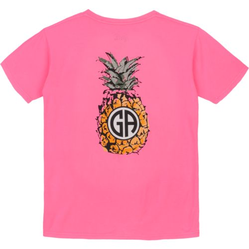 Royce Juniors' State Pride Georgia Pineapple Monogram T-shirt