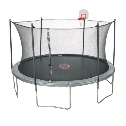 Jump Zone™ 15' Round Trampoline with DunkZone Basketball Hoop & Spinner Flash LiteZone - view number 2