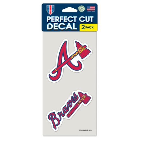 WinCraft Atlanta Braves Perfect Cut Decals 2-Pack