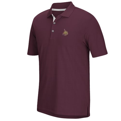 adidas™ Men's Texas State University climacool® Grid Texture Polo Shirt