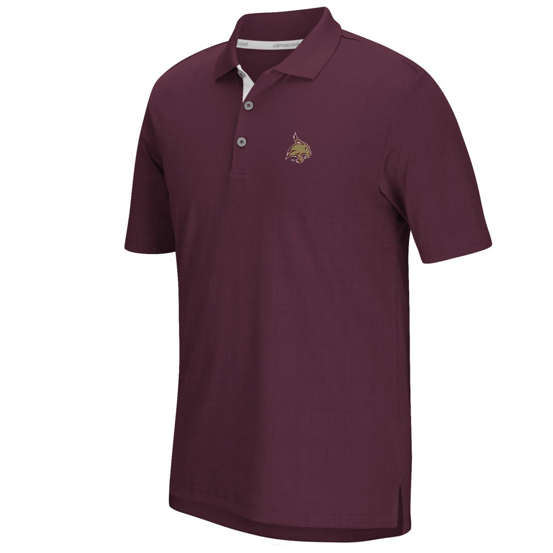adidas™ Men's Texas State University climacool® Grid Texture Polo Shirt