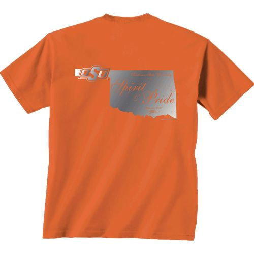 New World Graphics Women's Oklahoma State University Silver State Distress T-shirt