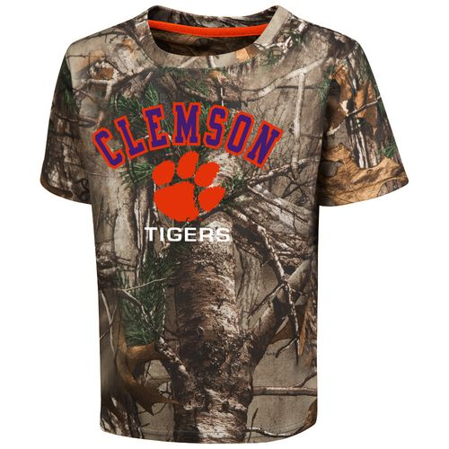 Colosseum Athletics™ Toddler Boys' Clemson University Blacktail Camo T-shirt