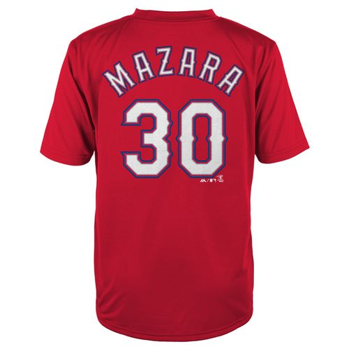 Majestic Boys' Texas Rangers Nomar Mazara #30 COOL BASE® T-shirt