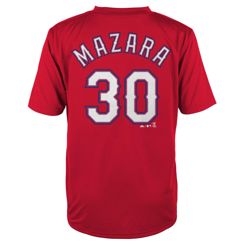 Majestic Boys' Texas Rangers Nomar Mazara #30 COOL