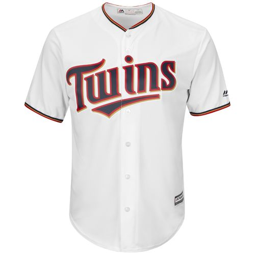 Majestic Men's Minnesota Twins Trevor Plouffe #24 Cool Base® Home Jersey - view number 3