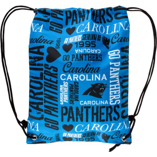 Team Beans Women's Carolina Panthers Collage Drawstring Backpack