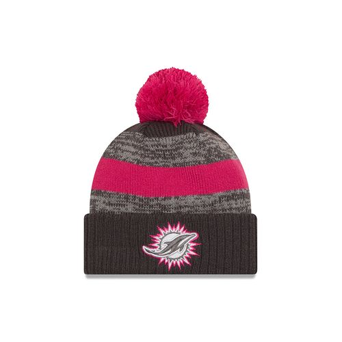 New Era Men's Miami Dolphins 2016 Breast Cancer Awareness Knit Cap
