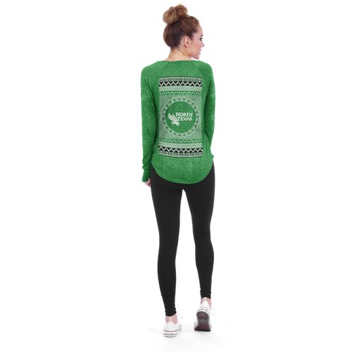 Chicka-d Women's University of North Texas Favorite V-neck Long Sleeve T-shirt