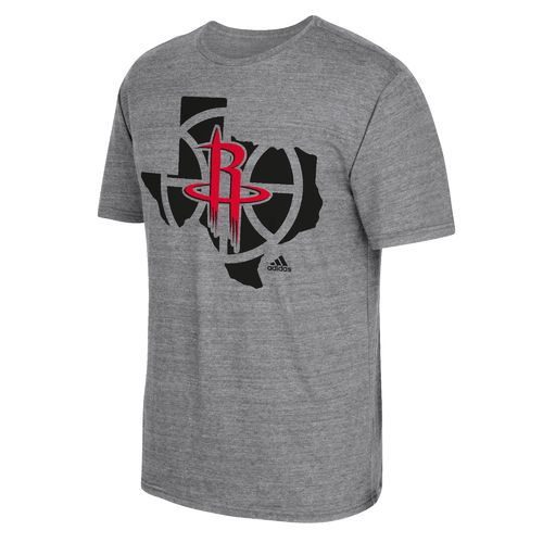 adidas™ Men's Houston Rockets State Outline T-shirt