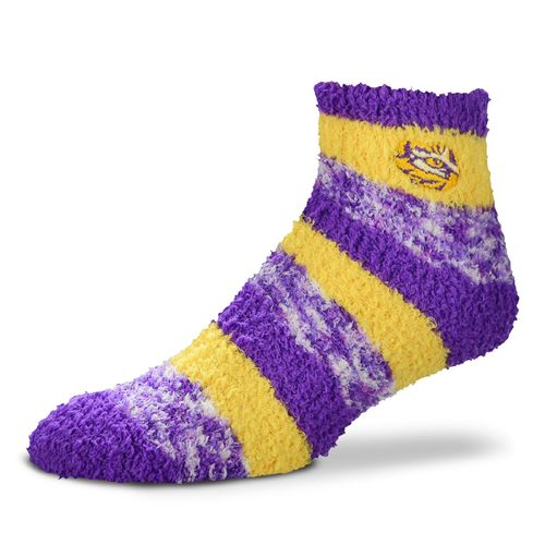 FBF Originals Women's Louisiana State University Pro Stripe Sleep Soft Socks