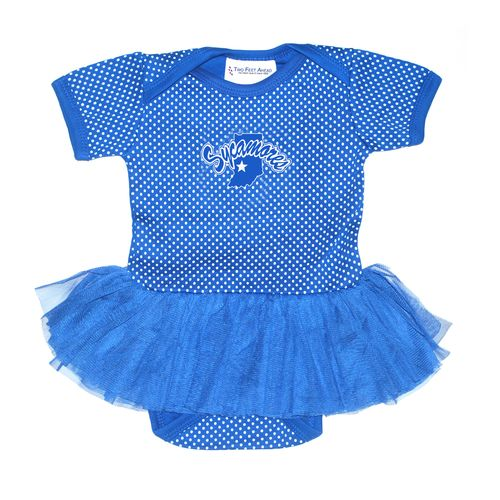 Two Feet Ahead Infants' Indiana State University Pin Dot Tutu Creeper