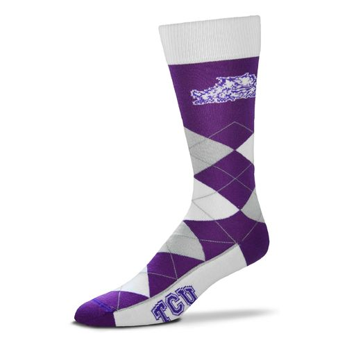 FBF Originals Adults' Texas Christian University Team Pride Flag Top Dress Socks