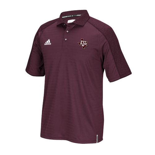 adidas Men's Texas A&M University Sideline Polo Shirt