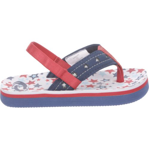 O'Rageous Toddler Girls' Stars Flip-Flops