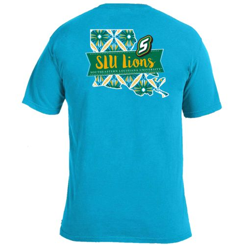 Image One Women's Southeastern Louisiana University Pattern Scroll State T-shirt