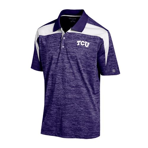Champion™ Men's Texas Christian University Synthetic Colorblock Polo Shirt