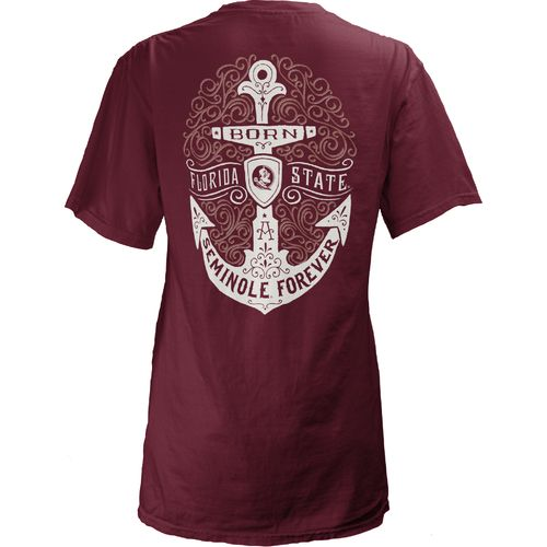 Three Squared Juniors' Florida State University Anchor Flourish V-neck T-shirt