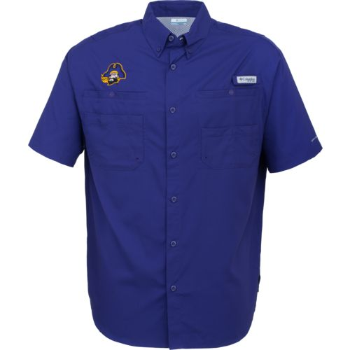 Columbia Sportswear Men's East Carolina University Tamiami Short Sleeve Shirt
