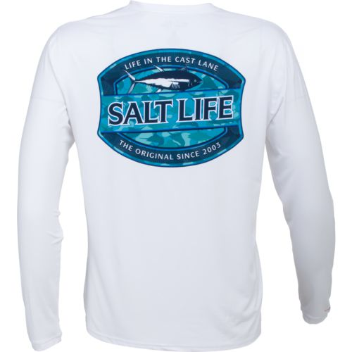 Salt Life Men's Life In The Cast Lane Performance Long Sleeve T-shirt