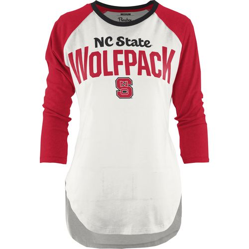 Three Squared Juniors' North Carolina State University Quin T-shirt