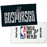 WinCraft San Antonio Spurs 22 in x 42 in On-Court 2-Sided Locker Room Towel - view number 1