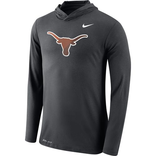 Nike Men's University of Texas Dri-Blend Long Sleeve Hoodie T-shirt