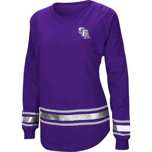 Colosseum Athletics Women's Stephen F. Austin State University Humperdinck Oversize Long Sleeve T-sh