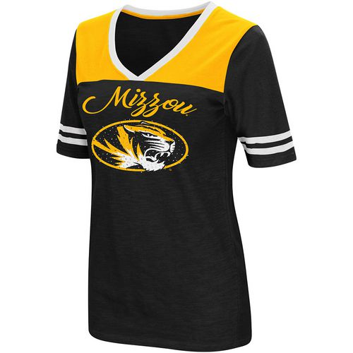 Colosseum Athletics Women's University of Missouri Twist 2.1 V-Neck T-shirt