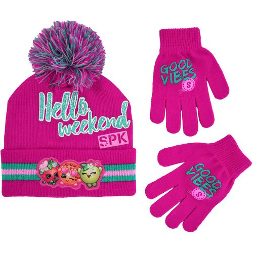 ABG Accessories Girls' Shopkins Pom Hat and Glove Set