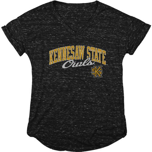 Blue 84 Women's Kennesaw State University Dark Confetti V-neck T-shirt