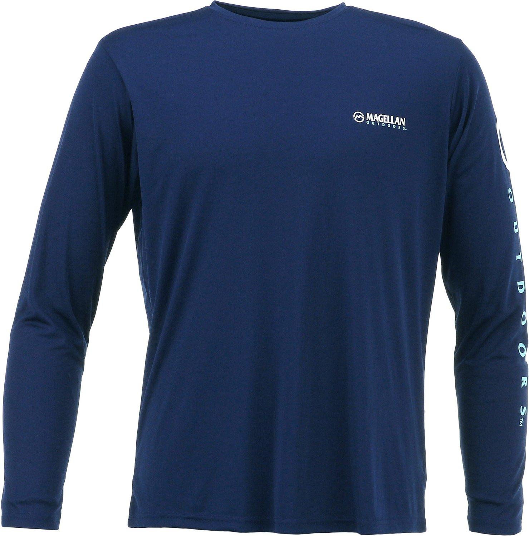 Magellan Outdoors Men's Casting Crew Moisture Management Long Sleeve T-shirt | Academy